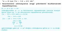 Tanım, Aksiyom, Teorem ve İspat Kavramları 9. Sınıf