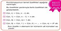Kombinasyon (Seçme) 10. Sınıf