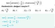 Ters Trigonometrik Fonksiyonlar 11. Sınıf