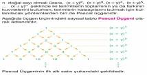 Pascal Üçgeni ve Binom Açılımı 10. Sınıf