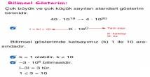 Bilimsel Gösterim 8. Sınıf